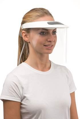 certificata EN166 per proteggere  il volto da schizzi e schegge  di lavorazione